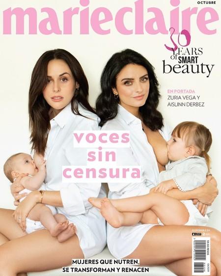 Los pechos son protagonistas en esta portada de moda para exaltar la lactancia materna como lo que es: algo bello y natural