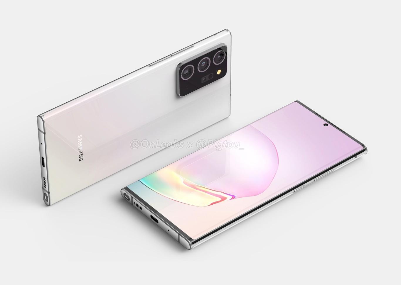 Las filtraciones de los Samsung Galaxy Note 20 dejan ver su posible diseño final con pantallas más grandes que nunca