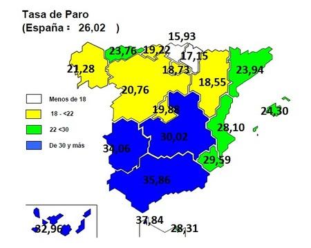 La tasa de paro se sitúa en España en el 26,02%