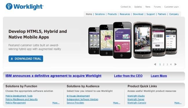 IBM adquiere la desarrolladora de aplicaciones móviles Worklight