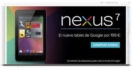 Nexus 7 disponible en España a través de Google Play