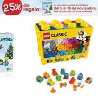 25% de regalo en el catálogo de juguetes de navidad de El Corte Inglés
