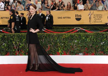 Emma Stone look vestido Sag 2015