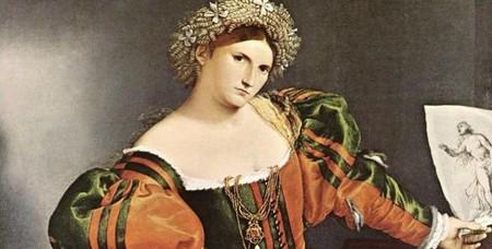 Una Mujer Veneciana Vestida Como Lucrecia