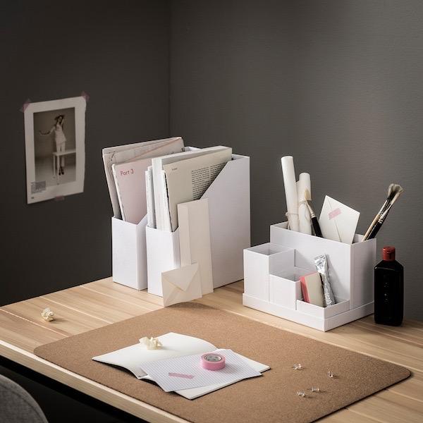 Organizador escritorio en blanco
