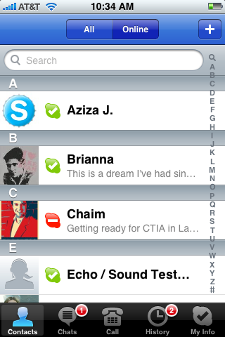 Skype para iPhone disponible a partir de mañana