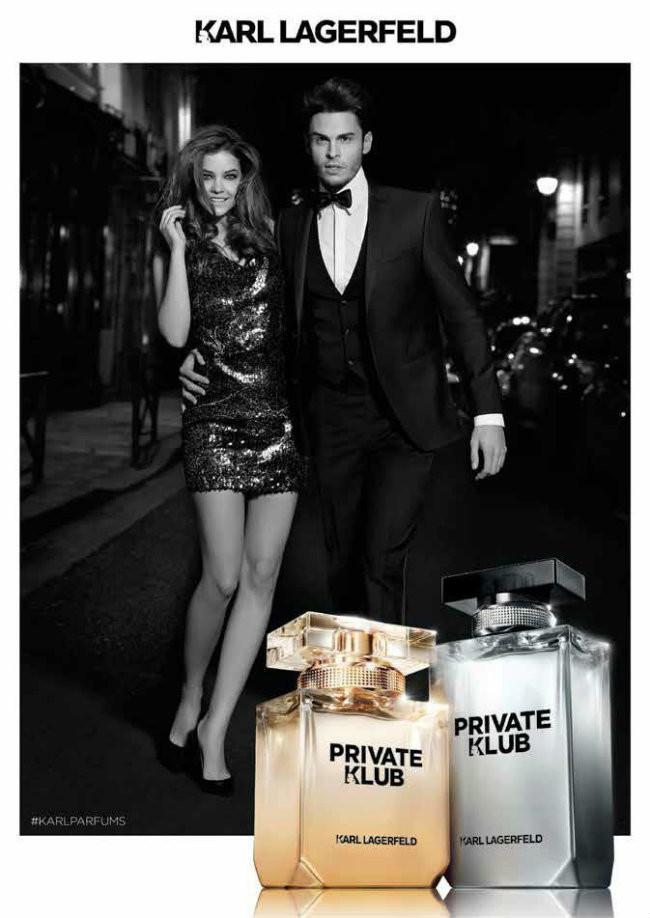 Baptiste Giabiconi, una vez más, protagoniza la campaña de la fragancia Private Klub de Karl Lagerfeld