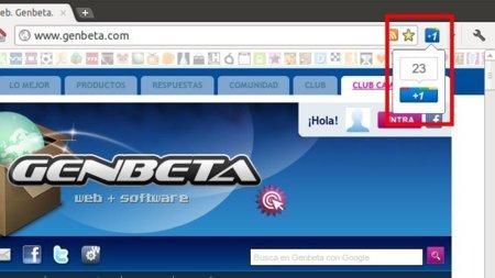 Usa el botón +1 de Google en cualquier web desde Chrome