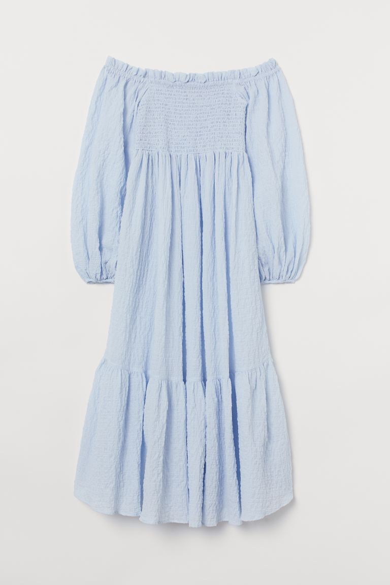 Vestido celeste con escote de H&M