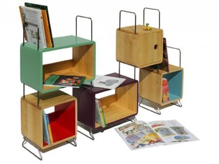 La estantería Salamandra o cómo ordenar la habitación infantil de forma divertida