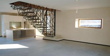 Unas escaleras esculturales