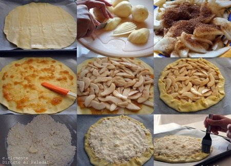 preparacion galette de pera