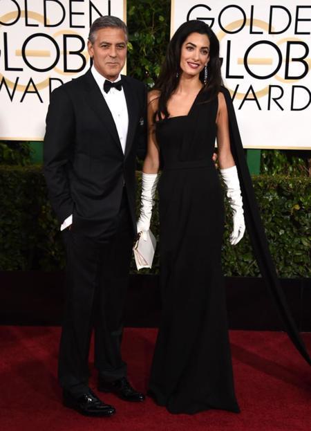Amal Clooney Globos de Oro 2015