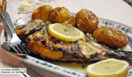 Restaurante O Forno. Dorada con patatas