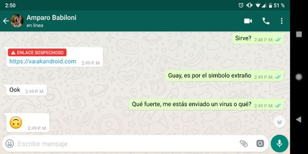 Whatsapp Enlace Sospechoso Android
