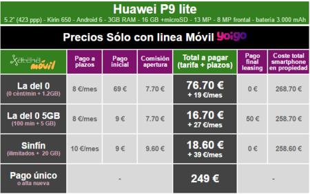 Precios Huawei P9 Lite Con Tarifas Yoigo