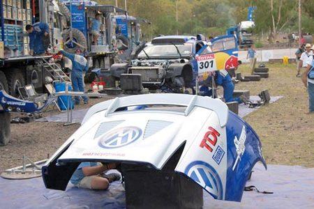 El equipo de apoyo de VW