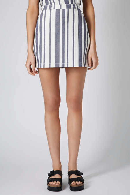 8 minifaldas con las que hacer frente a la falda midi - Rayas horizontales ...