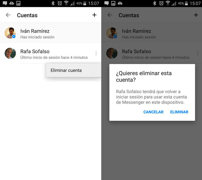 how to delete something on messenger