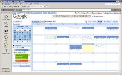 Usar Google Calendar en Outlook
