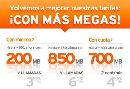 Simyo mejora sus tarifas para hablar y navegar con 100 MB más por el mismo precio