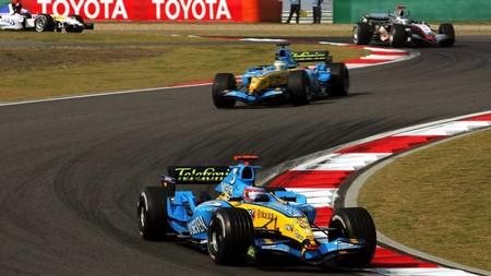 Alonso China F1 2005