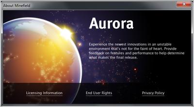 Un vistazo a Aurora, el futuro de Firefox