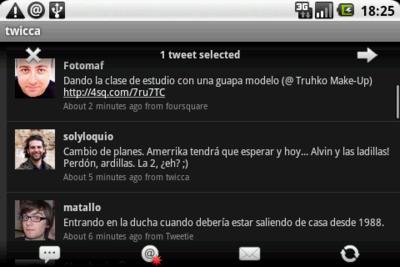 twicca, el cliente de Twitter para Android con la mejor interfaz