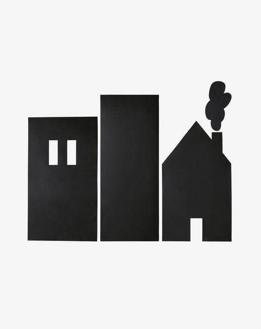 Vinilo de pizarra para pared Nisi con estampado de edificios 115 x 145 cm