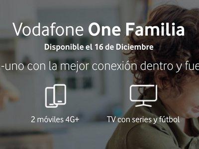 Vodafone One Familia: sencillez para los nuevos packs con dos líneas móviles y televisión