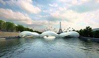 Un extravagante puente trampolín para París