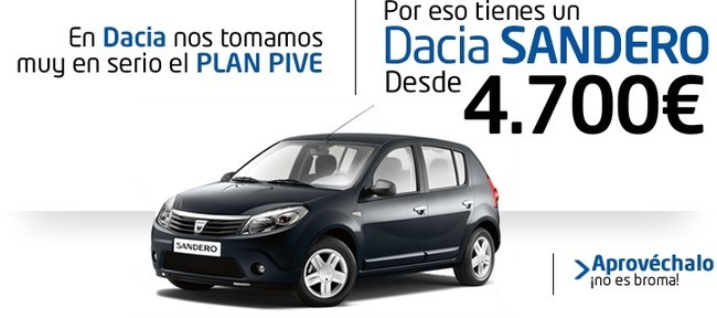 Dacia Sandero por 4.700 euros