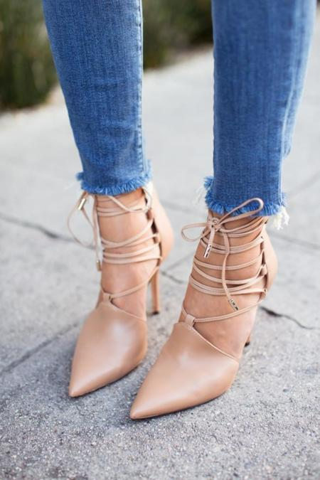 ¿Te animas a lucir zapatos en color nude?