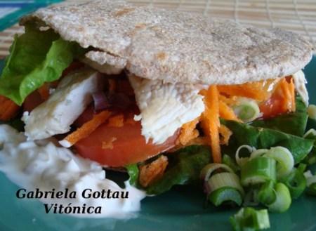 Sandwich de pollo. Receta saludable