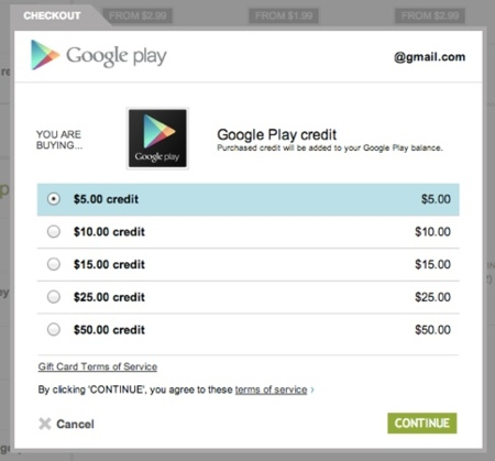 Crédito de Google Play