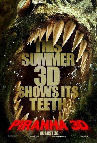 'Piraña 3D', cartel
