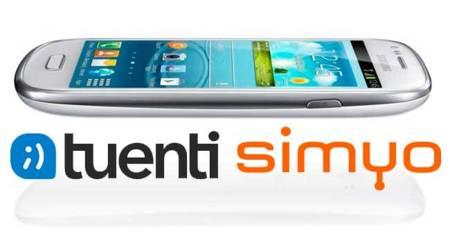 Precios Samsung Galaxy SIII Mini con Tuenti y Simyo