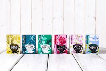 colección de tés de la casa Clipper