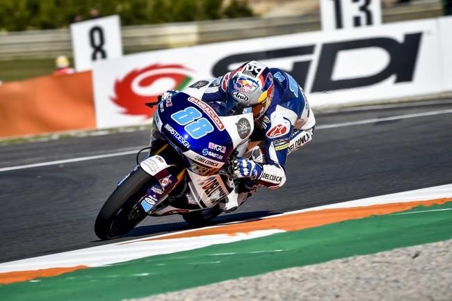 ¡Implacable! Jorge Martín firma su primera victoria de Moto3 con triplete español junto a Mir y Ramírez