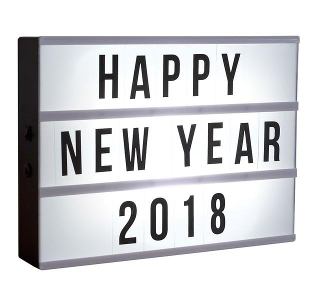 Customisable Cinema Lightbox New Year 2018
