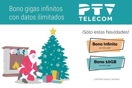 Los datos ilimitados llegan a PTV Telecom por navidad, disponibles por 4,99 euros
