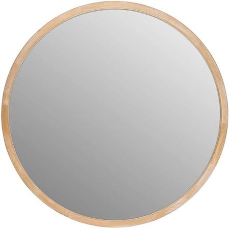 Espejo de Pared Redondo de Madera para baño