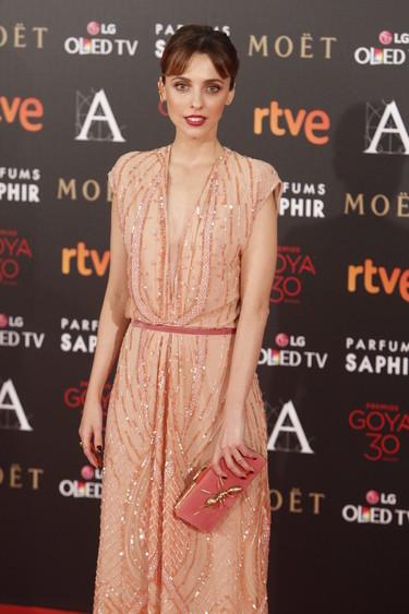 'El Gran Gatsby' en la alfombra roja de los Goya 2016 con Leticia Dolera y su Dolores Promesas Heaven