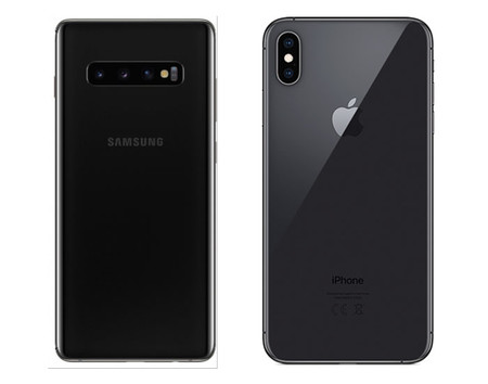 Los Samsung Galaxy S10+ y iPhone XS Max