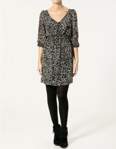 Zara Otoño-Invierno 2010/2011, vestido animal print