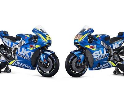 Aquí tienes todas las imágenes de la nueva Suzuki GSX-RR de Iannone y Rins para MotoGP 2018