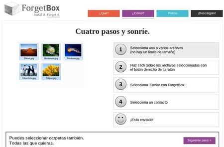Olvídate de los problemas al enviar muchos archivos con ForgetBox