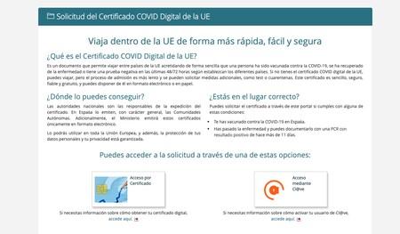 Web Certificado Digital Covid