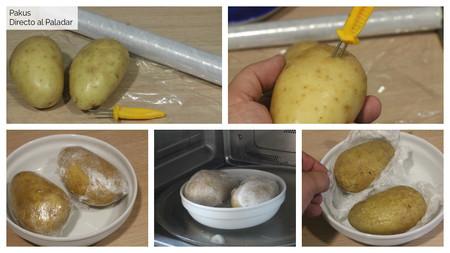 Pasos Patatas Microondas Dap