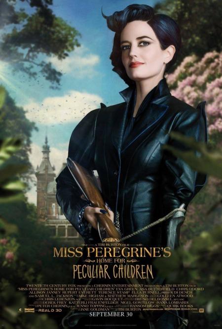 'El hogar de Miss Peregrine', carteles de los protagonistas
